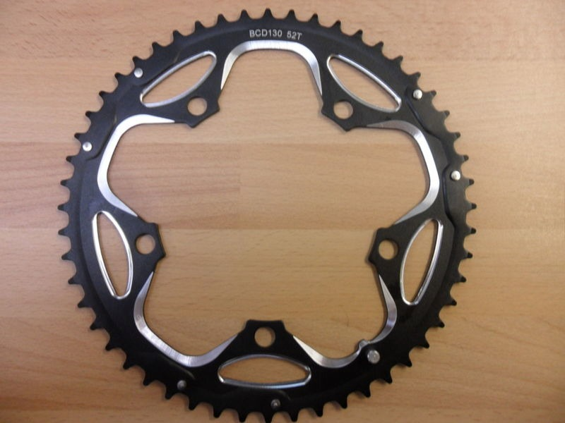ORBIT TANDEMS 52 Tooth 130 PCD Outer Chain ring click to zoom image