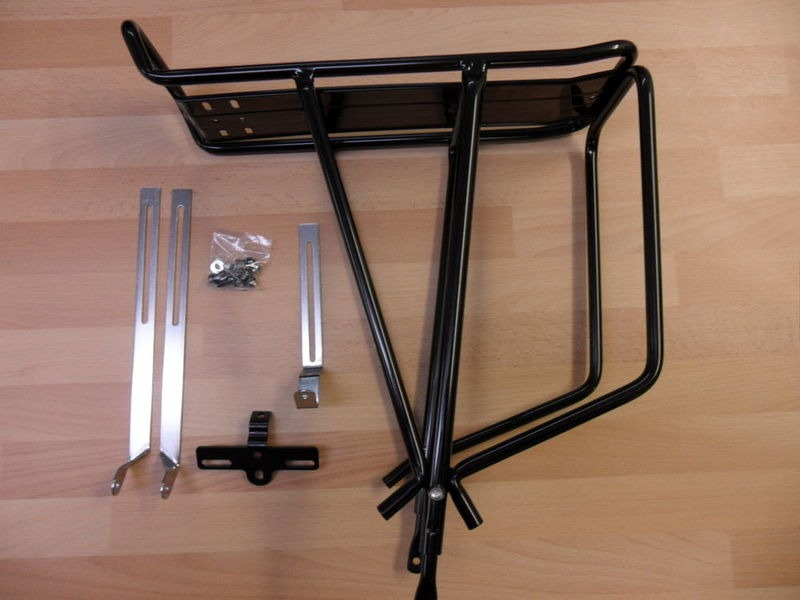 JD TANDEMS Tubular Alloy 3 leg rear pannier rack click to zoom image