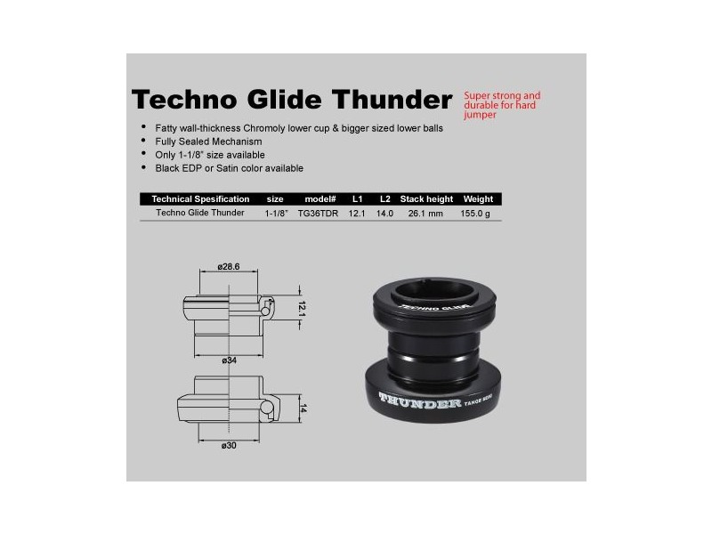 TANGE Techno Glide Thunder aheadset click to zoom image